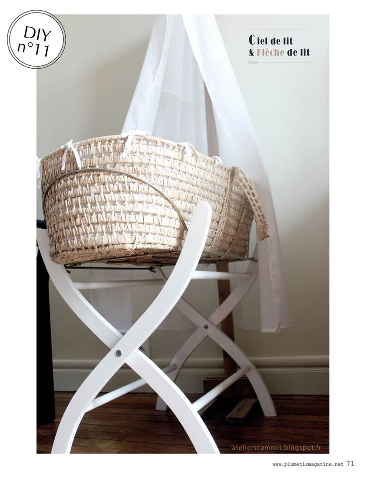 DIY Crib Canopy // Ciel et flèche de lit | Plumetis Magazine via http://atelierscammit.blogspot.fr/
