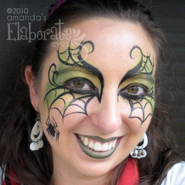 alternative spider web eye art halloween face paintingsfacepaint - Halloween Face Paint Ideas For Adults