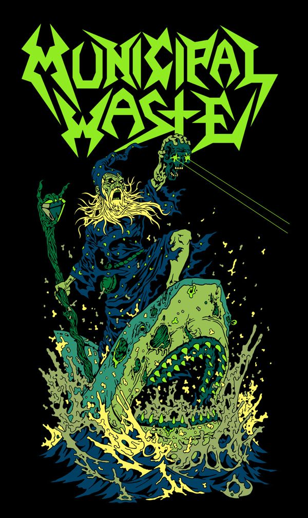 Municipal Waste artwork by James Callahan