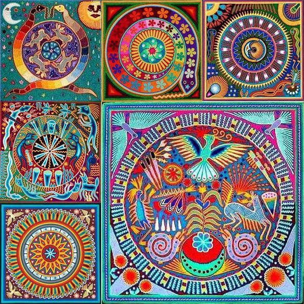 Huichol Art - ☮ Mandalas Psychedelic ,  hippie, Indian, illustration, art, design ~