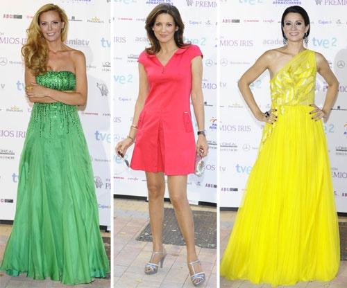 Paula Vázquez, Remedios Cervantes y Silvia Jato en los Premios Iris de Televisión #tv #fashion #people