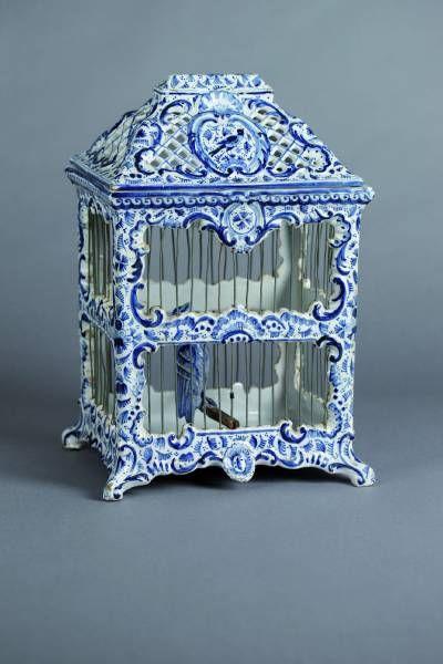 Delfts blauwe vogelkooi