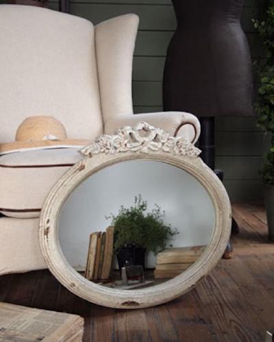 Oltre 25 fantastiche idee su specchio anticato su - Specchio ovale shabby chic ...