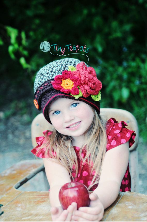 Girls Hat Autumn Bouquet Cloche Fall Hat Baby by TinyTeapots, $32.00