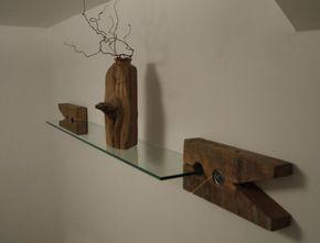 Soportes de madera recuperada. Estante de pared de por TicinoDesign