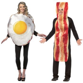 Option #1:  Bacon & Fried Egg Couple Costume