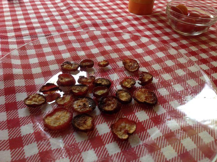 Eigen gemaakte radijsjes chips.....
