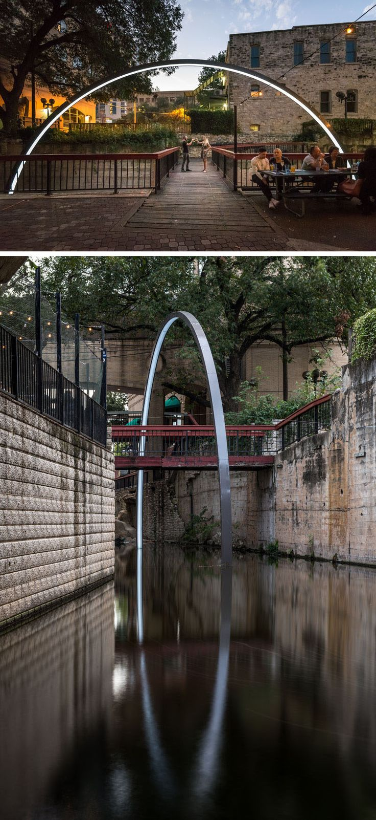 """East Side Collective together with Drophouse Design have designed """"Deep Curiosity, a light art sculpture created as a temporary installation in Texas."""