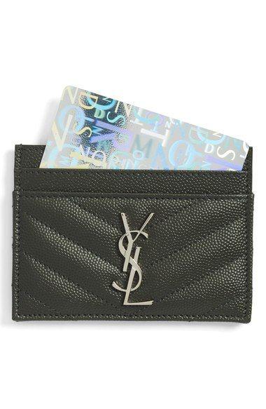 Saint Laurent monogram credit  card holder @nordstrom.com