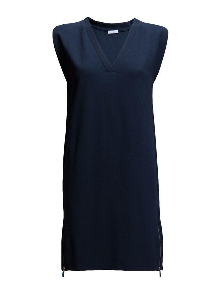 DAY - 2ND Easy Side zipper detail Micro cap sleeves V-neckline Excellent quality and fit Functional Modern Simple Dress Dresses