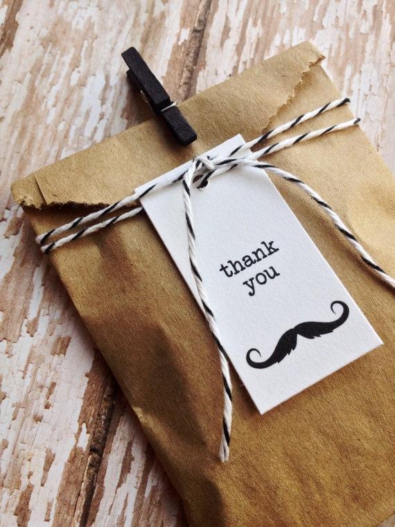 Favour set for moustache birthday party