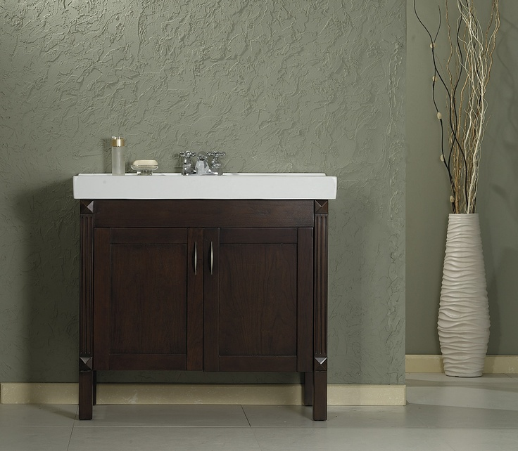 Photo Gallery On Website The Terry vanity features a chocolate finish terry countertop and ceramic basin