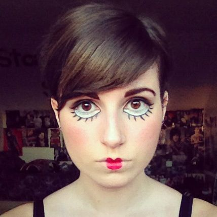 doll make up | doll make-up - Please tell me this is for Halloween.