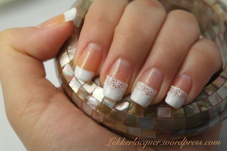 french manicure | ... manicure it s really simple i did the french manicure free hand which