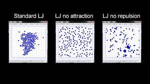 Molecular Dynamics Investigation & Visualization on the Phase Transition of a Lennard-Jones Fluid