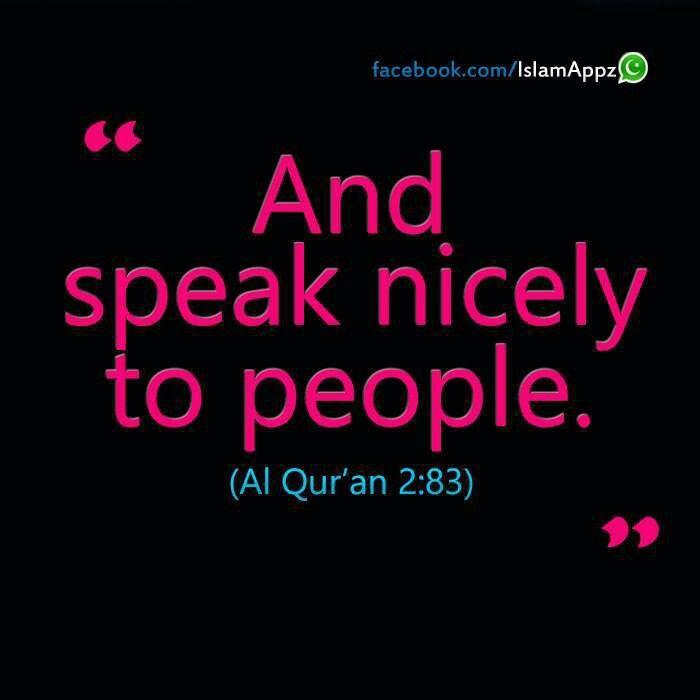 Speak good