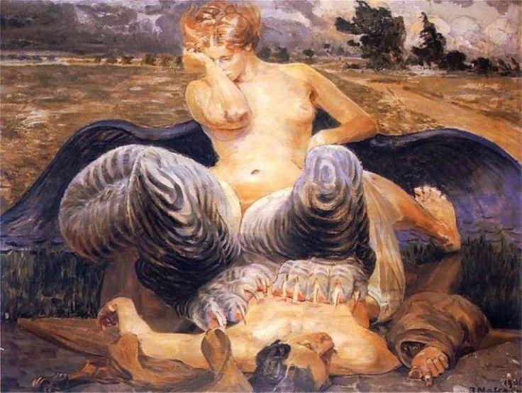 The sphinx by Jacek Malczewski, (Polish 1854-1929)