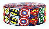 2m x 25mm MARVEL AVENGERS SUPER HERO GROSGRAIN RIBBON FOR CAKE'S BIRTHDAY CAKES GIFT WRAP WRAPPING RIBBON CRAFT