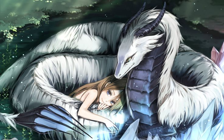 Anime ice dragon dragon love hd wallpaper 1920x1080