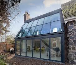 aluminium bifold doors and glass roof - Google Search