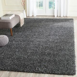Safavieh California Cozy Solid Dark Grey Shag Rug | Overstock.com Shopping - The Best Deals on 7x9 - 10x14 Rugs