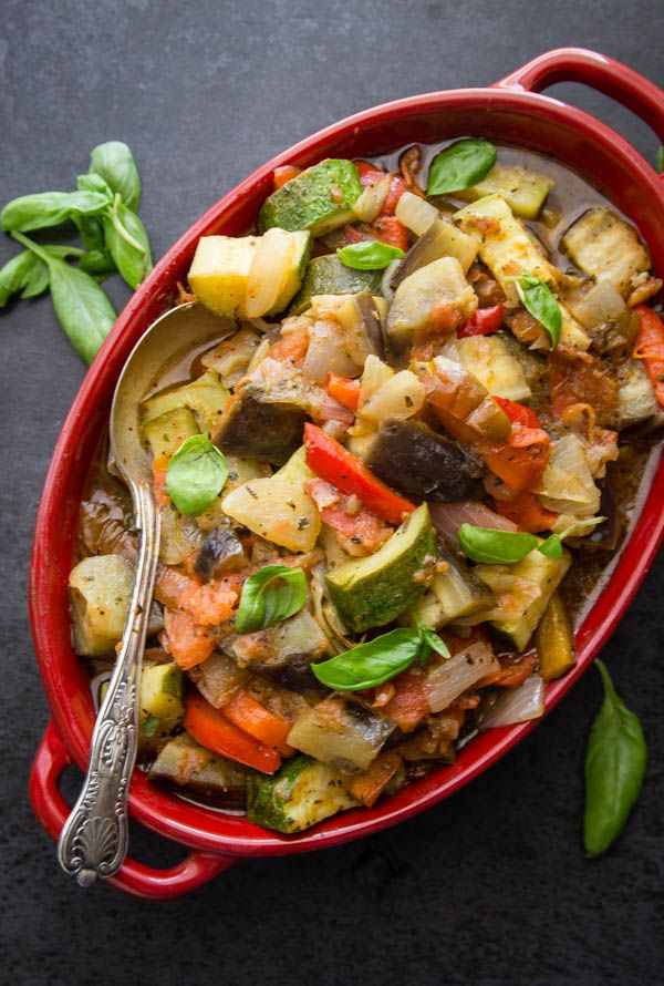 Ratatouille a classic easy fresh vegetable dish