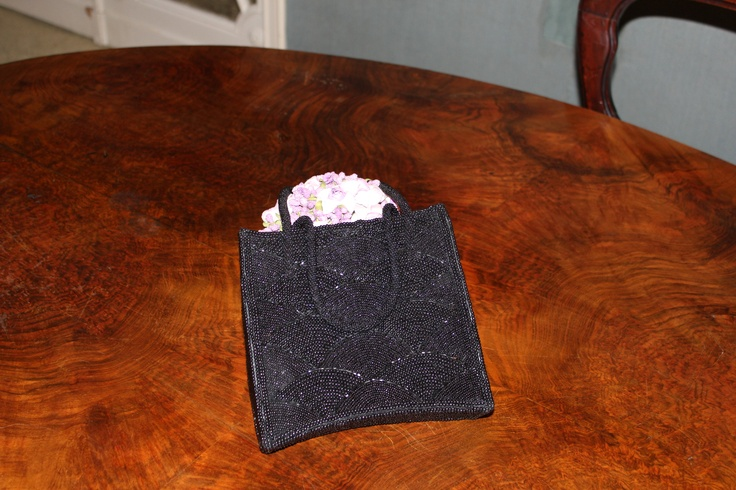Rare evening bag embroidered with beads