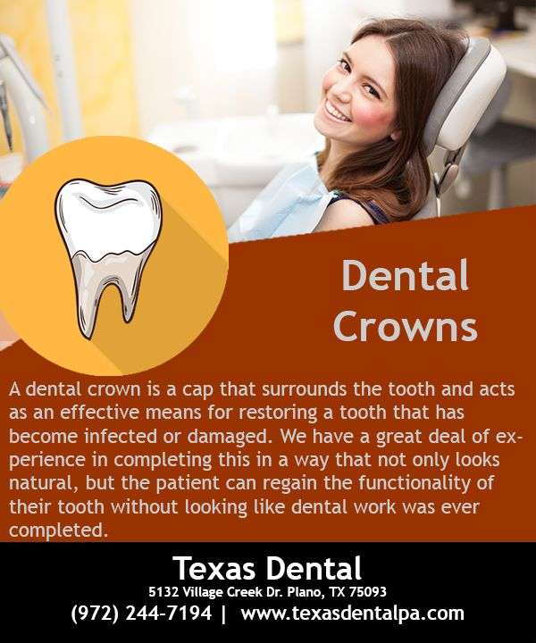 A dental crown is a cap that surrounds the tooth and acts as an effective means for restoring a tooth that has become infected or damaged. #Dentist #DentalRestorations #DentalCrown