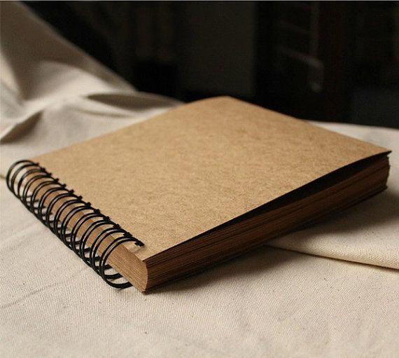 98 pages Wedding Guestbook // Kraft Scrapbook Album by PapergeekMY, $25.00