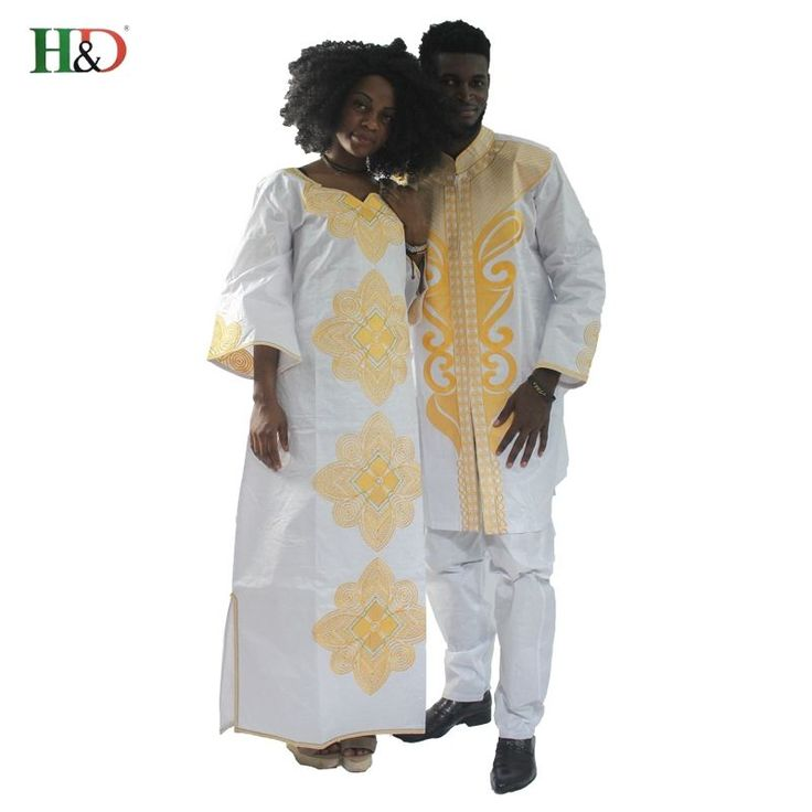 HandD 2017new traditional mens african clothing for men and women costume bazin riche embroidery design Dashiki robe Couples dress