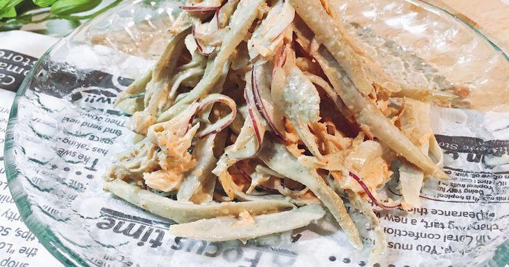 レンチンだけ! チキンとごぼうのサラダ。 by shinke☆ [クックパッド] 簡単おいしいみんなのレシピが258万品