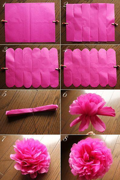 Legende Pfingstrosenblume gemacht mit Blumenpapier ~ Papierblume ~