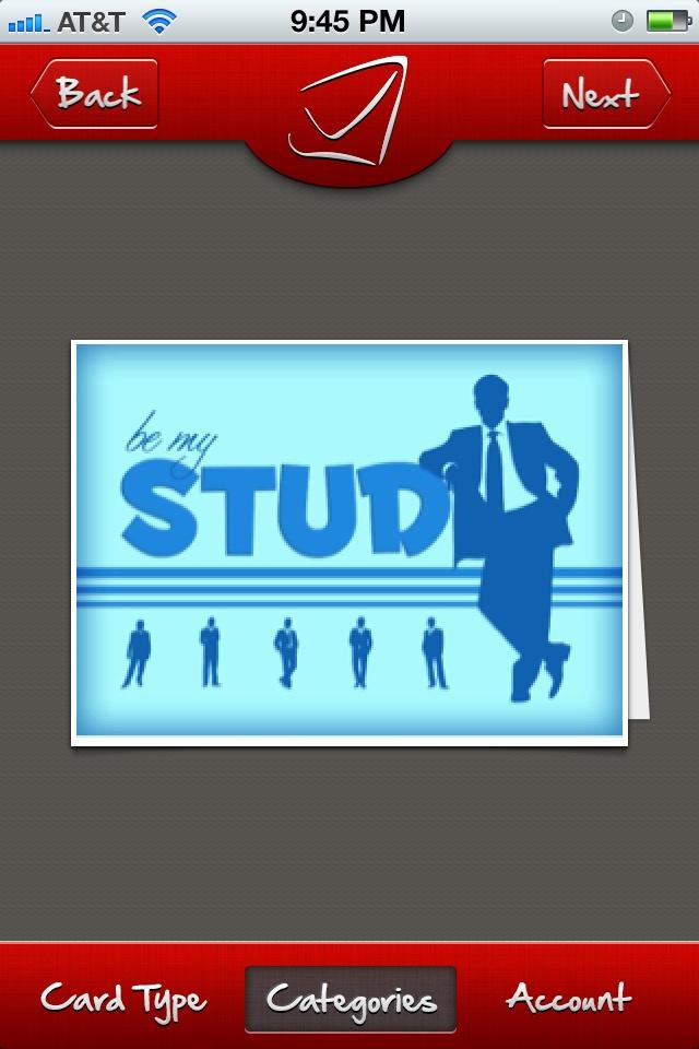 Stud - Valentine's card