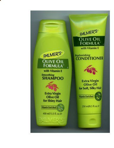 Palmer`s Olive Oil Formula with vitamin E virgin olive oil. Great for my thick, wild hair.