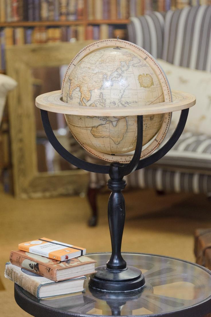 "A handmade 10"" reproduction Desnos globe of the world"