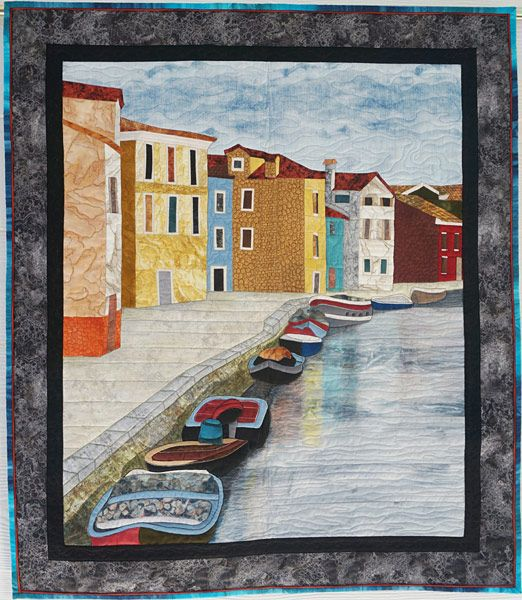 "By the Seaside, 32"" x 37"", by Pat Busby. Cover to Cover Book Club Quilters"