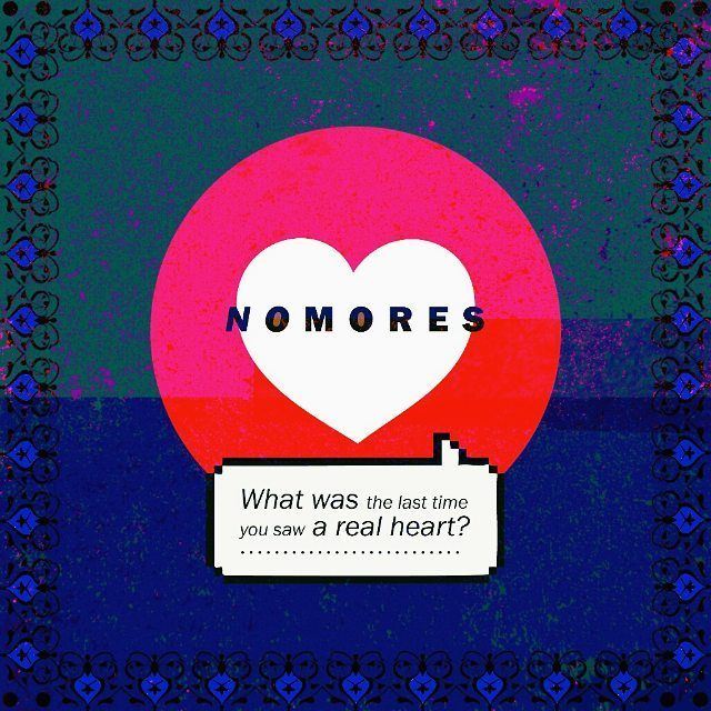 """Imaginary album cover for an imaginary indie band-III : No Mores' new album: """"what was the last time you saw a real heart? """" // #album #albumcover #music #love #thumbsup #like #fake #socialmedia #real #heart #nomore #ask #indieband #cdcover #records #musik #müzik #digital #inspiration #imaginary #image #visual #graphics #graphicdesign #composition #conceptual #lasttime #questionmark #messages #textme"""