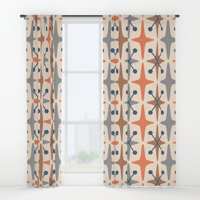 Your Drapes Don T Have To Be So Drab Our Awesome Window Curtains Transform A Neglected E Mid Century Modern Curtains Vintage Retro Bedrooms Mid Century Modern