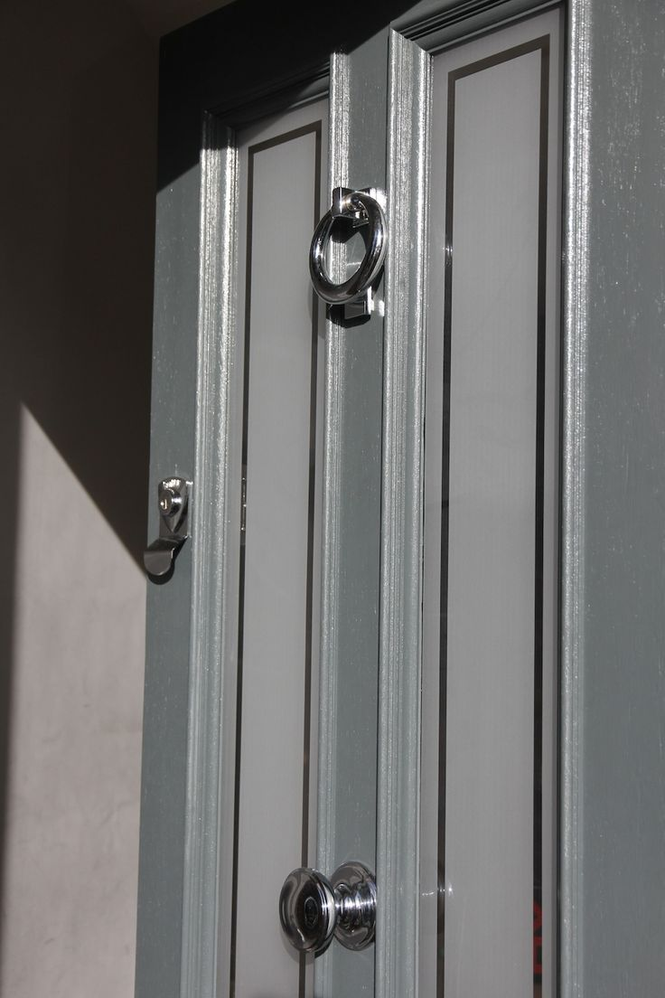 painted in Farrow & Ball Downpipe. Bespoke door by Hendy Curzon Gardens
