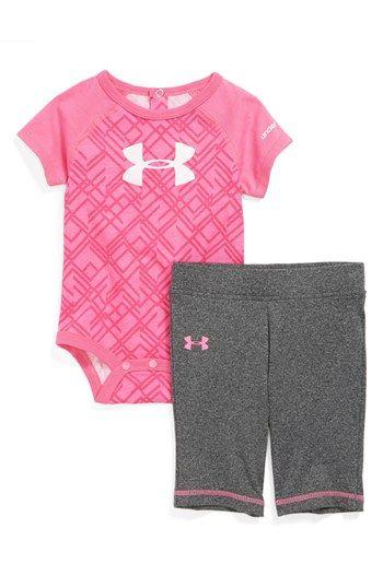 Under Armour AllSeasonGear® Bodysuit Pants (Baby Girls) available at #Nordstrom