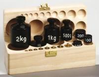 Weight Set in wooden box  Contents:  Brass weights - 1x 1kg, 2x2kg, 1x5g, 2x10g, 1x20g, 1x50g  Iron weights - 2x100g, 1x200g, 1x500g, 2x1kg, 1x2kg  List Price: R2119.99