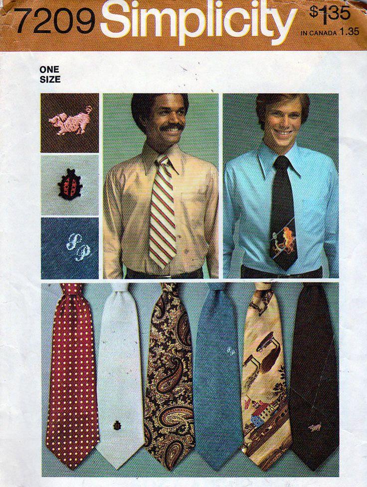 Simplicity Sewing Pattern 7209 Men's Ties, FF