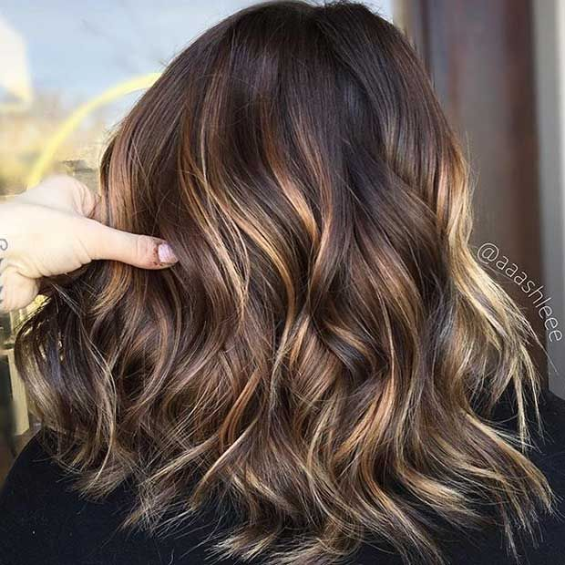 Short Hair Styles And Color Chocolate Brownlt Blonde Highlights