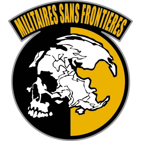 Logo of Militaires Sans Frontieres. Metal Gear Solid - Peace Walker - Ground Zeros.