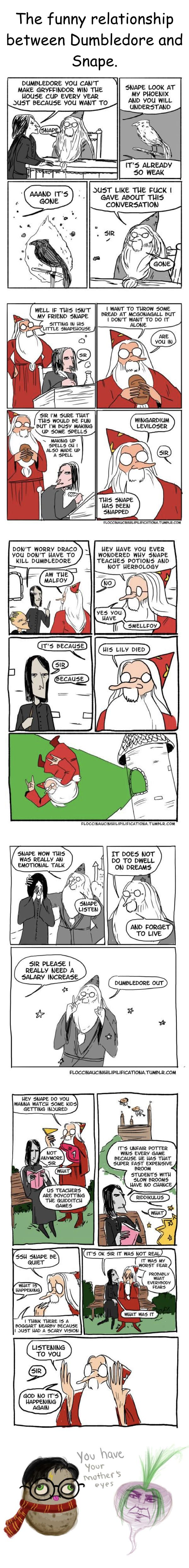 Harry Potter comic shows us the funny relationship between Dumbledore and Snape.