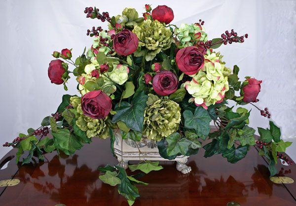18 excellent silk flower arrangements for dining room for Dining table flower arrangements