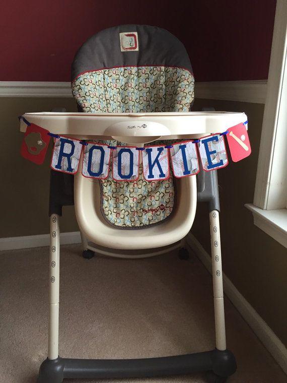 ROOKIE Baseball Theme Highchair Banner Baseball by HandmadeByVee