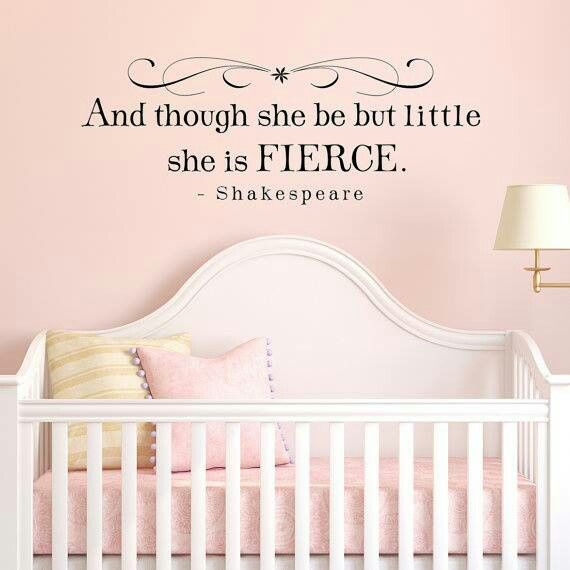 I love this. Patrick would love it and I love that it's Shakespeare! Baby will be sharing a room with Paiden by the time shes moved into a crib, so we've got plenty of time to fix the room up!
