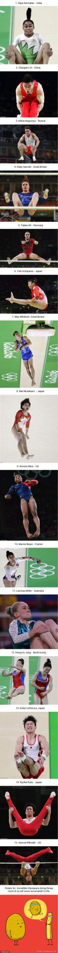 15 Photos Of Olympian Gymnasts Show How Intense The Competition Is #lol #funny #rofl #memes #lmao #hilarious #cute