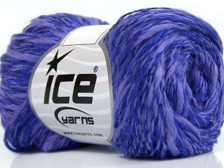 Limited Edition Spring-Summer Yarns Viskon Yazlık  Pamuk Flamme Natural Yarn Fine Weight Mor Leylak  İçerik 60% Pamuk 40% Viskon Purple Lilac Brand ICE fnt2-41428